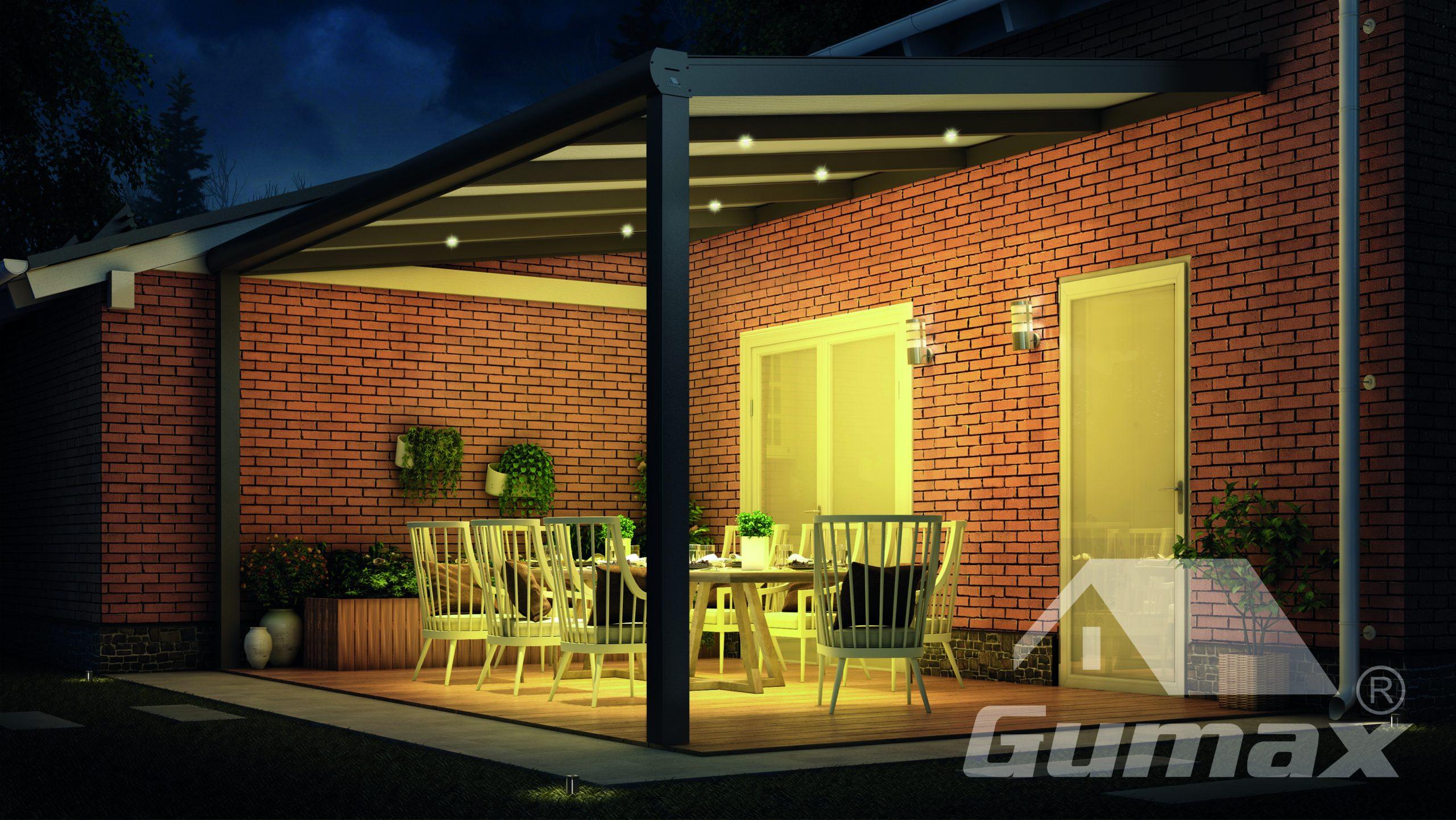 Terrassendach Led Beleuchtung 6 X 3w Terrassendach Haendler De