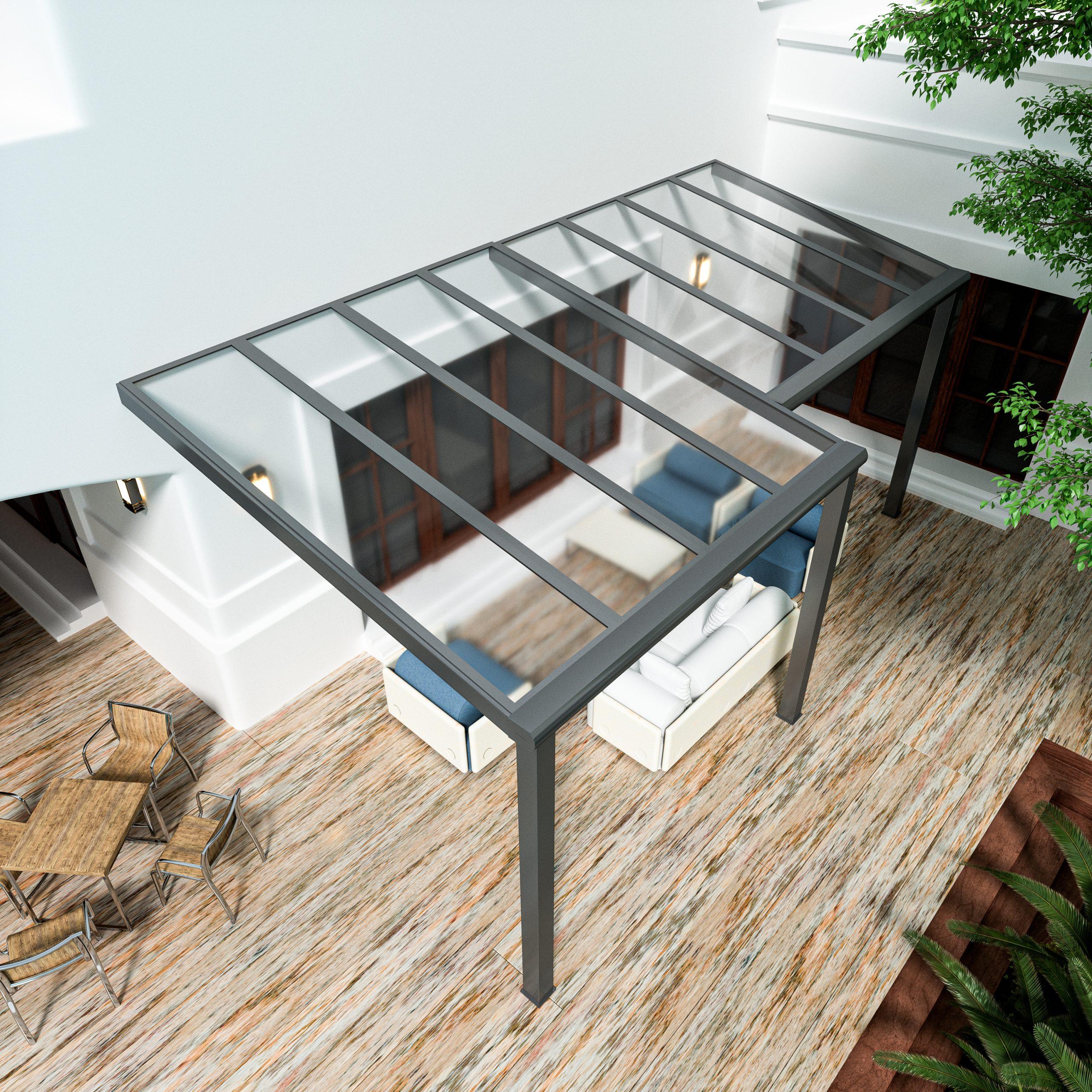 Alumaximal Terrassenüberdachung Glas Serie Luxor