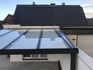 Terrassenüberdachung Glas klar